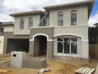 Quality Textured Coatings over Cement Rendered Walls and Texture to Exterial Mouldings